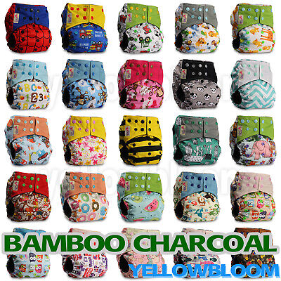 Diaper Covers Free Shipping (Washable Baby Pocket Nappy Cloth Reusable Diaper BAMBOO CHARCOAL Cover Wrap )