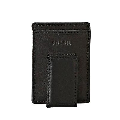 Fossil Ingram Leather Magnetic Card Case Slim Money Clip Front Pocket Wallet
