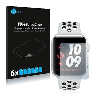Nike Plus Watch (6x Displayschutzfolie Apple Watch Nike Plus Series 3 (38 mm) Schutzfolie)