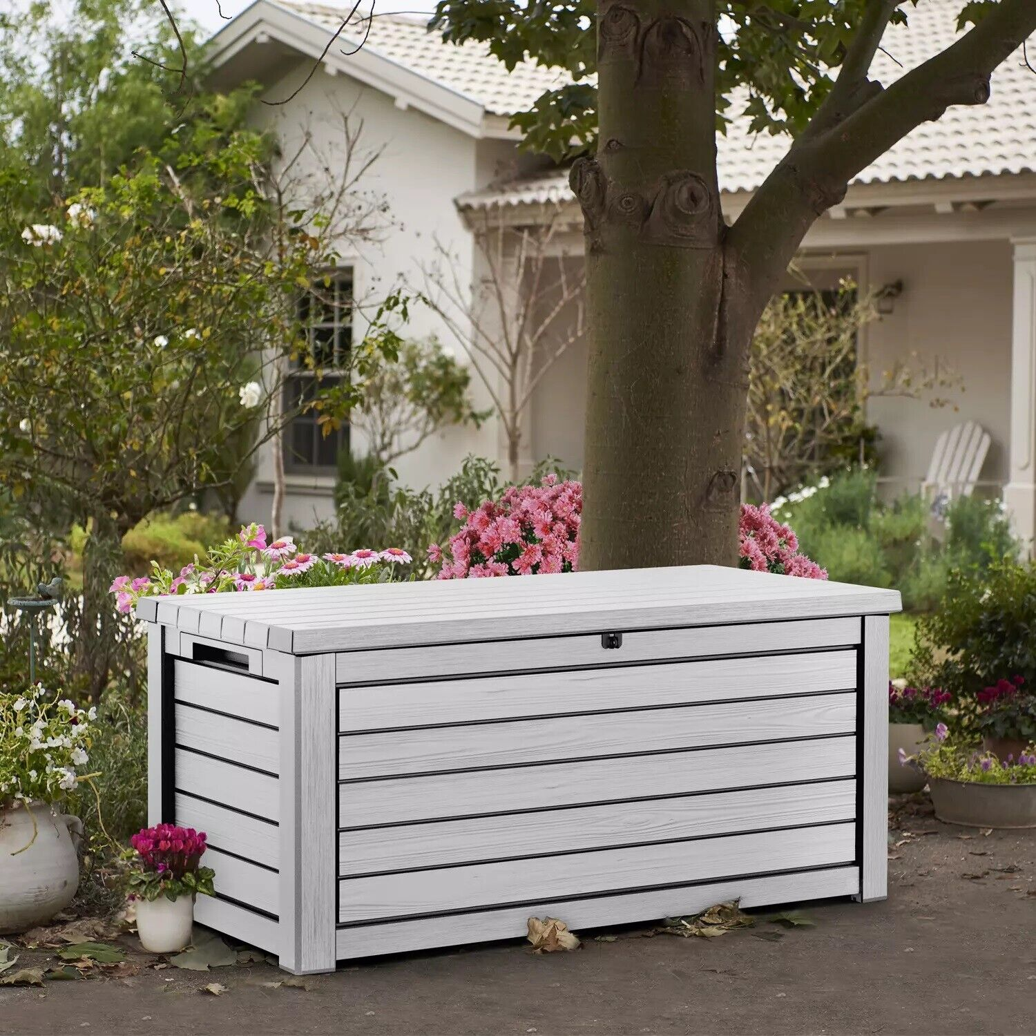 Keter 165-Gallon Weather Resistant Resin Deck Storage Contai