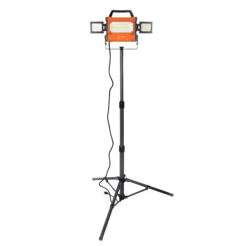 Helios Tool LED 5000 Lumen Work Light with Swivel Side Lights and 5 Foot Stand