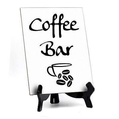 Signs Bylita Coffee Bar Table Sign 6 X 8 White