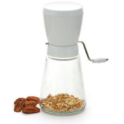 Norpro Hand Crank Nut Walnut Almond Peanut Chopper Cutter Grinder Time Saver New