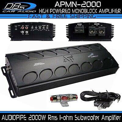 AUDIOPIPE APMN-2000 Monoblock Subwoofer Amplifier 2000W Rms Car Audio Sub Amp