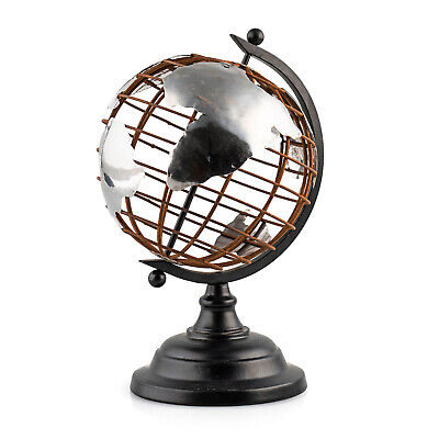 Globus, Terra aus  Metall, H 25 cm