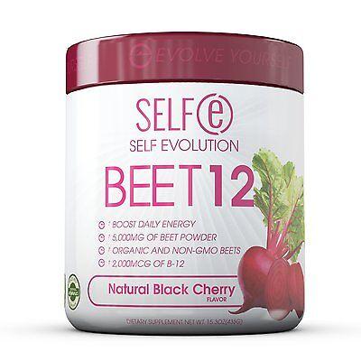 Selfe Beet 12 - Beet Powder Plus Vitamine B12 - Black Che...