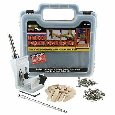 POCKET HOLE JIG KIT Aluminum Heavy Duty Woodworking Drill Tool System Set 76 (Jig Set)