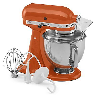 KitchenAid Stand Mixer tilt 5-Quart ksm150pspn Orange Persimmon Artisan New (Orange Kitchenaid Stand Mixer)