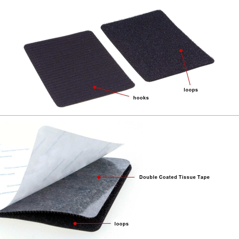 TFY Self Adhesive Hook & Loop Fastening Tape Patch - 6 x 4 i