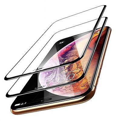 2x 10D Hartglas 9H für iPhone X / Xs Display Panzerfolie Schutzpanzer Glasfolie