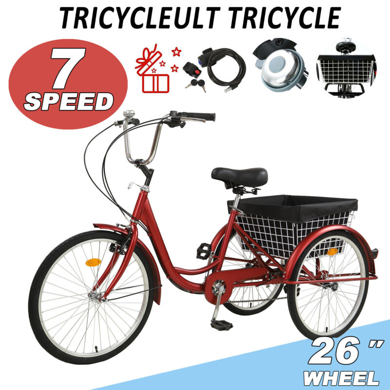 26 inch adult tricycle trike 3 wheel