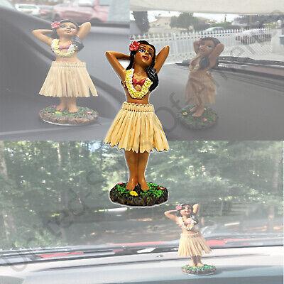Hula Girl Dancing Figurine Dashboard Doll Hawaiian Dancer Bobble Aloha Cars Auto