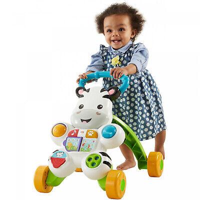 Zebra Baby Walker Push Behind Toddler Learning Toy Cart Infant Walking Assistant