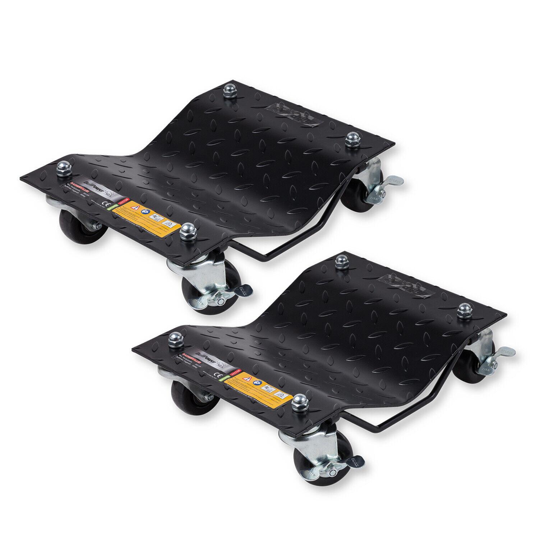 2x Rangierhilfe Rangierroller Transportschale Reifenträger für PKW - je 680kg