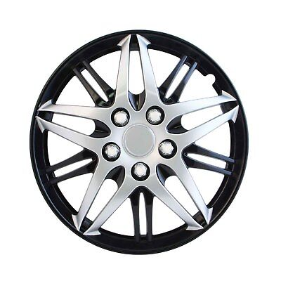 Pilot Automotive Formula Performance Silver Black Hub Cap Snap On 15