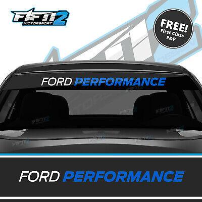 Ford Performance Fiesta ST Focus Sunstrip Zetec RS Sun Strip Decal Azure Blue