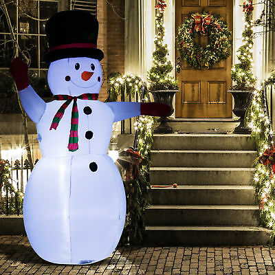 8' Inflatable Christmas Snowman Airblown Holiday Yard Outdoor Lighted - Christmas Outdoor Decor