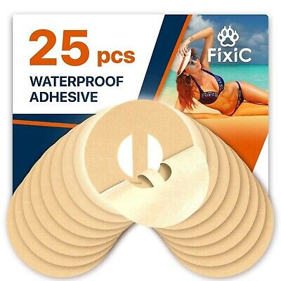 Fixic – 25 pcs Waterproof Adhesive Patches with Belt for Freestyle Libre - Tan