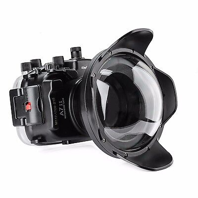 Meikon 130ft Underwater Housing Case For Sony A7II A7RII A7S II /w Dome Port