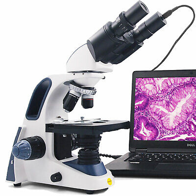 Swift 2500x Digital Usb Microscope Trinocular Lab Biological Compound W Camera