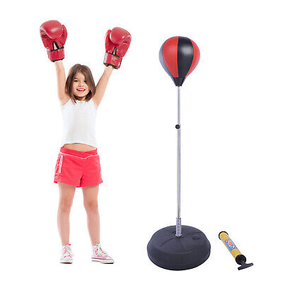 HOMCOM Boxset Punchingball Standboxball Standboxsack höhenverstellbar Boxstand