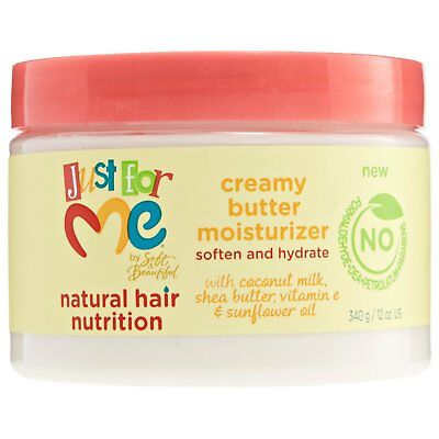 - Just For Me Natural Hair Creamy Butter Moisturizer Soften & Hydrate 12oz