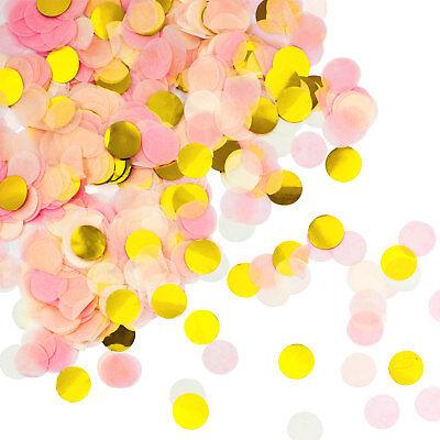 Rosa Weiß Tisch Streu Deko Geburtstag Party Hochzeit JGA (Rosa Weiß Gold)