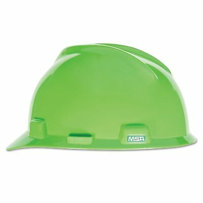 Msa Safety 815565 V-gard Slotted Hard Hat Lime Green W Fas-trac Iii Suspension