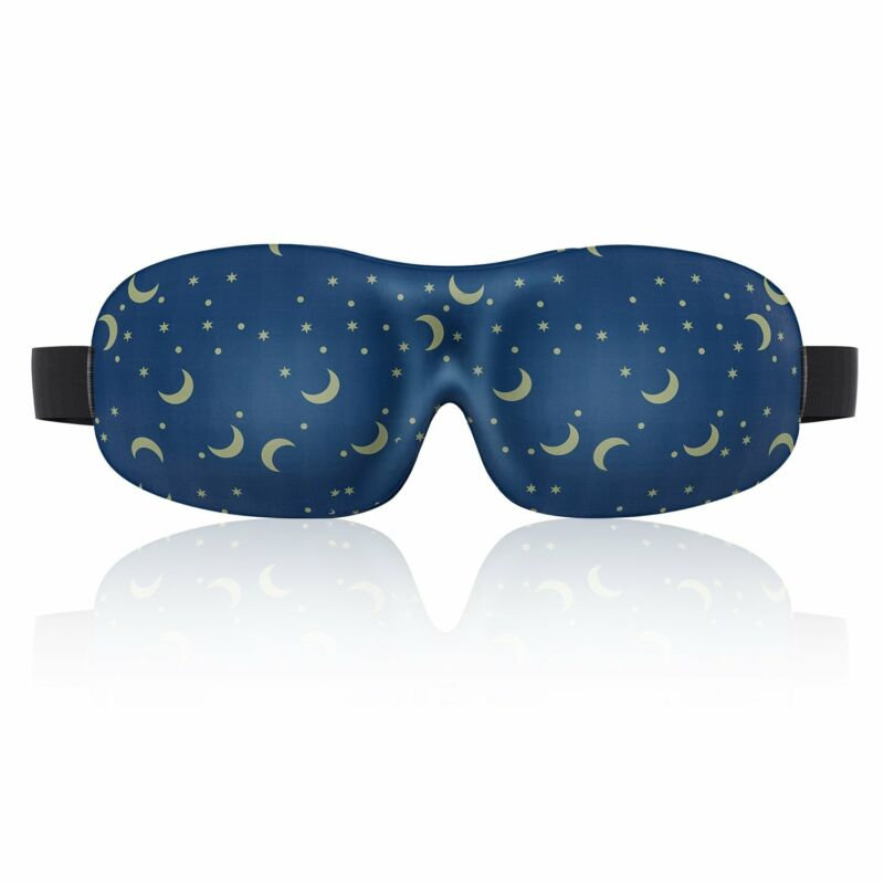 Lonfrote Star Moon Deep Molded Sleep Mask, with Ear Plug and