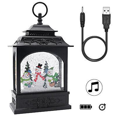 Glitter Globes (Musical Snow Globe Lighted Swirling Water  Glittering Lantern,Snowman)