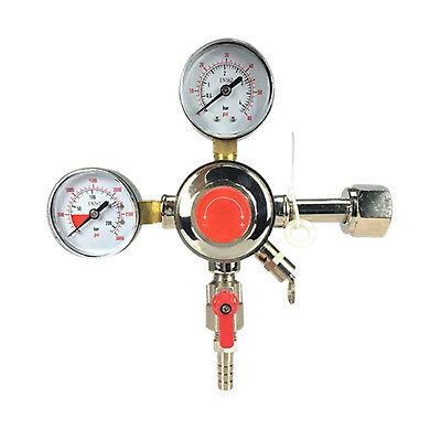 Co2 Beer Regulator Dual Gauge Keg - 0 To 60 Psi Cga-320 Inlet 38 O.d.
