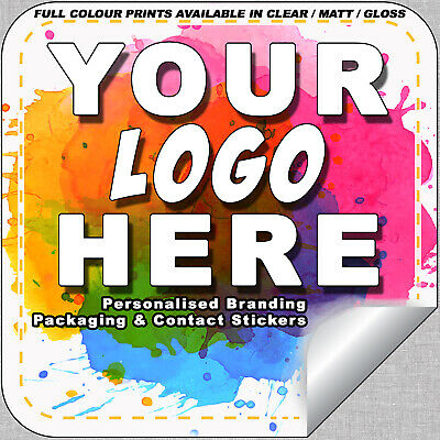 Printed Logo Stickers Square Custom Logo Labels Postage Labels - Personalised