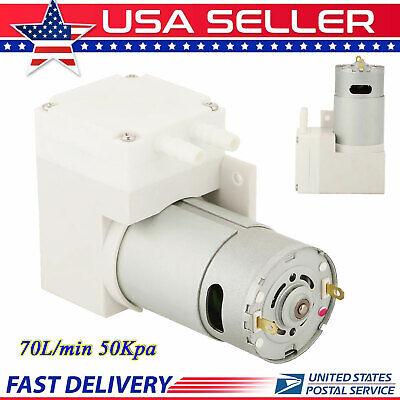 Dc 12v Mini Vacuum Pump Negative Pressure Suction Pump 7.0lmin 50kpa Noiseless