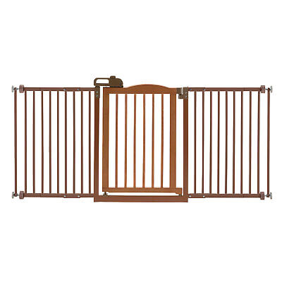 Richell One-Touch Gate Ii Wide Brown 94932 Pet GATE NEW
