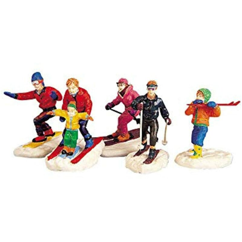 Lemax Village Vail Collection Winter Fun Set of 5 Skiing People #92357