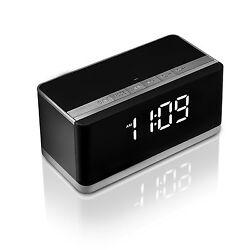 XPLUS Portable Wireless Bluetooth Speaker with Deep Bass FM Radio Alarm Clock