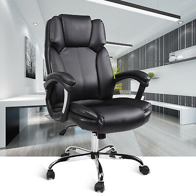 Office Executive Chair Leather Desk Task High Back Seat Swivel Adjustable Luxury