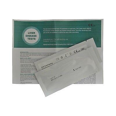 2 x Liver function Home Urine Tests Bilirubin, Hepatitis, Cirrhosis (1 Per Foil)