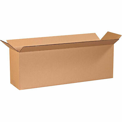 24 X 6 X 8 Long Cardboard Corrugated Boxes 65 Lbs Capacity 200ect-32 Lot