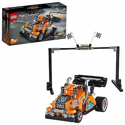 LEGO Technic 2-in-1 Race Truck Racing Car Toy Model Pull-Back Motor Building Fun