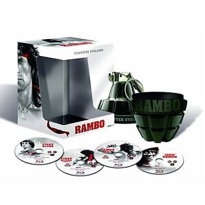 Rambo Granate Box, Teile 1+2+3+4, 4 Blu Ray Edition, NEU & OVP
