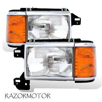 1987-91 Replacement Headlight/Corner Pair For Bronco F-Series Truck w/Bracket 89 Ford Bronco Headlight