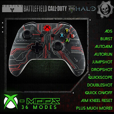 XBOX ONE RAPID FIRE CONTROLLER - RED CIRCUIT -BEST ON EBAY! Soft Touch