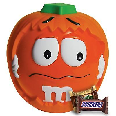 M&M'S Pumpkin Party Bowl &MARS Chocolate Halloween Candy Variety Mix 24.45Oz HLW - M&s Halloween