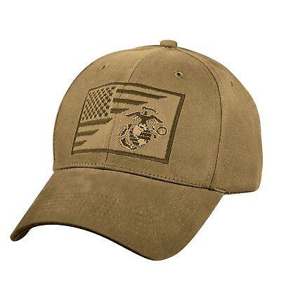 US Marine Corps Ball Cap USMC Vietnam OEF OIF Gulf Vet Hat FLAG and EG&A (Marine Corps Ball)