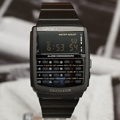 Casio CA506B-1A Black Stainless Steel Calculator Watch -