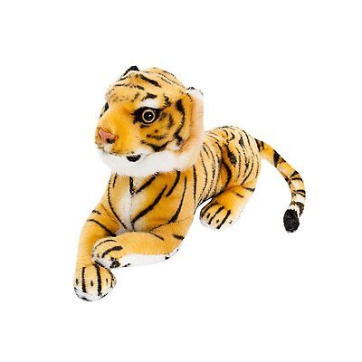 "BRUBAKER Cute Brown Plush Tiger, 10"", Soft Toy, Stuffed Animal"