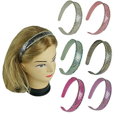 6 pieces color  assorted Peace sign design Hair Headband with stones ](Peace Sign Headband)
