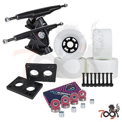 Cal 7 Longboard Flywheel 180mm Truck Bearing 90mm White Skateboard Wheels