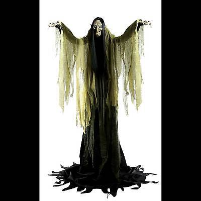 Talking LifeSize ANIMATED TOWERING WITCH Halloween Haunted House Prop Decoration - Halloween Decorations Animated Witch